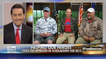 Folds of Honor on Fox and Friends