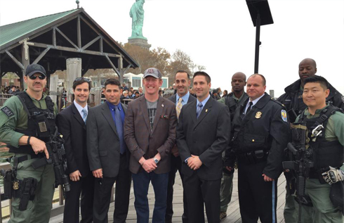 Robert O'Neill with New York's Finest